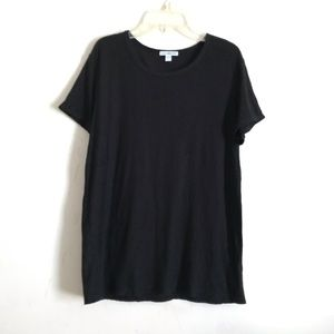 James Perse standard black short sleeve t shirt
